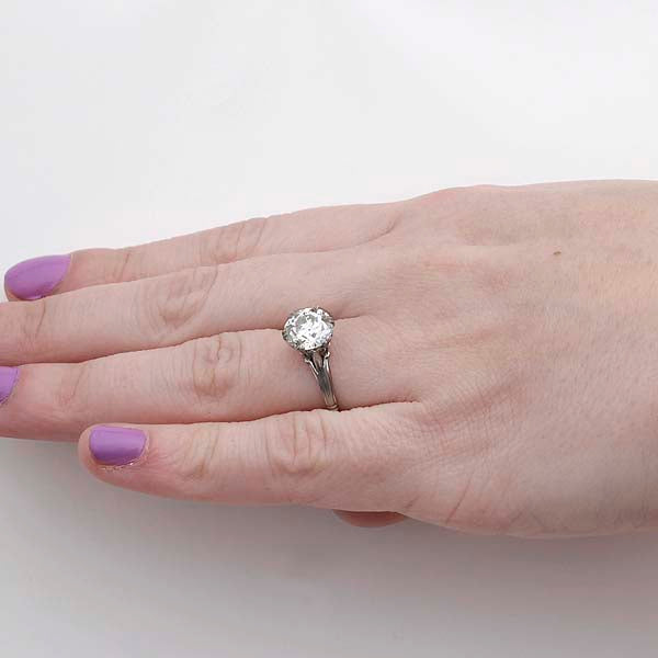 Early Art Deco  Engagement Ring #VR190314-1 - Leigh Jay & Co.