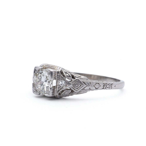 Art Deco Engagement Ring #VR190321-2 - Leigh Jay & Co.