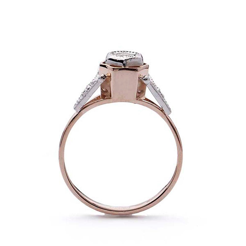 Replica Art Deco Rose gold ring #VR190417-1 - Leigh Jay & Co.