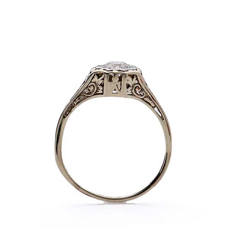 Replica Art Deco Filigree Ring #VR190417-6 - Leigh Jay & Co.