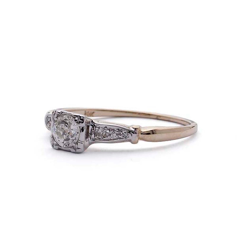 Circa 1940s Engagement Ring #VR190417-7 - Leigh Jay & Co.