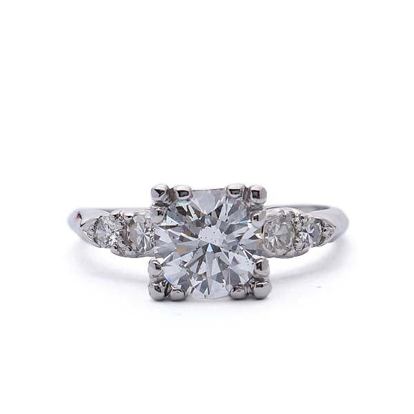 Midcentury Diamond Enagement Ring #VR190521-4 - Leigh Jay & Co.