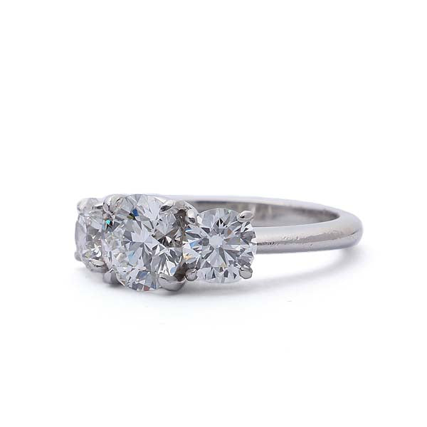 Classic Three Stone Diamond Ring #VR190521-1 - Leigh Jay & Co.