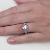 Art Deco Engagement Ring #VR190521-2 - Leigh Jay & Co.