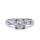 Circa 1950 European Cut Engagement Ring #VR190521-7 - Leigh Jay & Co.