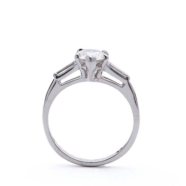 Classic Pear Shape Diamond Engagement Ring #VR190521-8 - Leigh Jay & Co.
