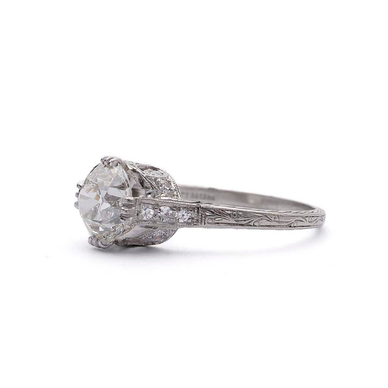 Art Deco Diamond Engagement Ring #VR190619-1 - Leigh Jay & Co.