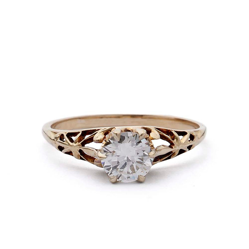 Art Deco Filligree Engagement Ring #VR190726-1 - Leigh Jay & Co.
