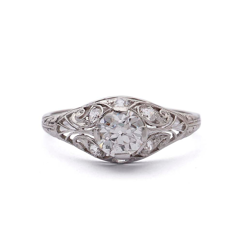 Art Deco Domed Engagement Ring #VR190729-1 - Leigh Jay & Co.