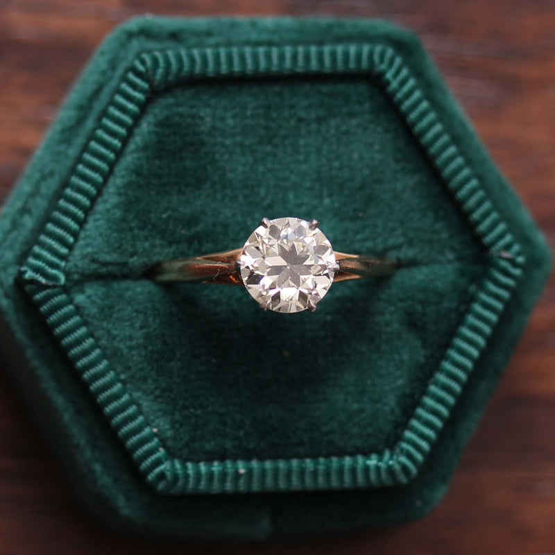 Old European Cut Engageement Ring Early 1900s #VR190730-1 - Leigh Jay & Co.