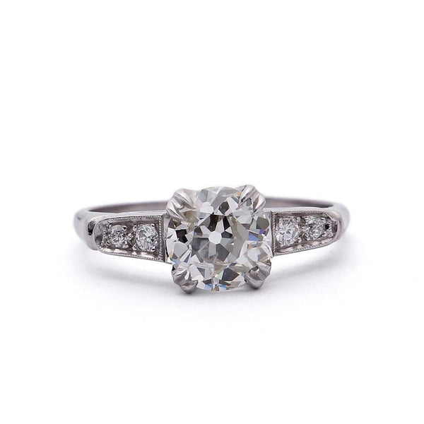 Art Deco Diamond Engagement Ring #VR190918-1 - Leigh Jay & Co.