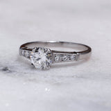 Circa 1950s Mid Century Engagement Ring #VR191104-1 - Leigh Jay & Co.