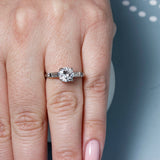 Mid-Century Diamond Engagement Ring #VR200914-2