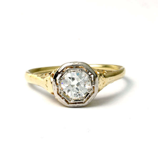 Early Art Deco Engagement Ring #VR201201-2