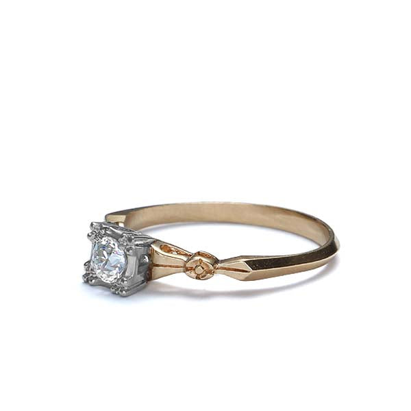 Circa 1940s Diamond Engagement Ring #VR323-17 - Leigh Jay & Co.