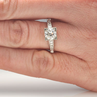 Circa 1930s Art Deco Engagement ring #VR407-11 - Leigh Jay & Co.