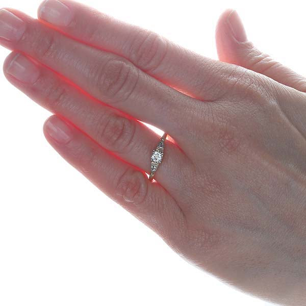 "Circa 1940s 'Keepsake"" Engagement Ring #VR475-05 - Leigh Jay & Co."
