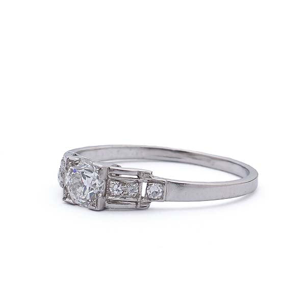 Circa 1940 Diamond Engagement Ring #VR475-07 - Leigh Jay & Co.