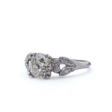 Art Deco Diamond Engagement Ring #VR495-09 - Leigh Jay & Co.