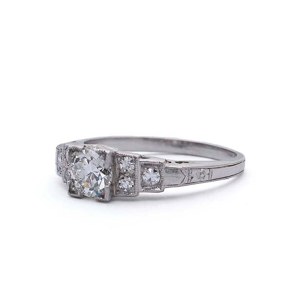 C. 1920s Art Deco Diamond engagement ring. #VR503-16 - Leigh Jay & Co.