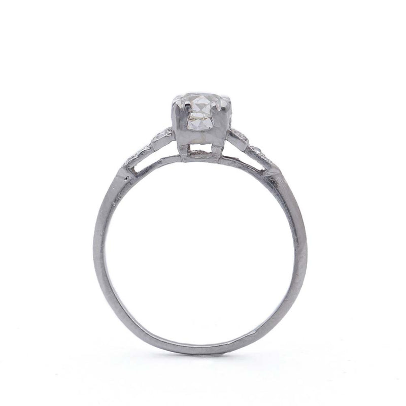 Art Deco Old Mine Cut Engagement Ring #VR508-08A