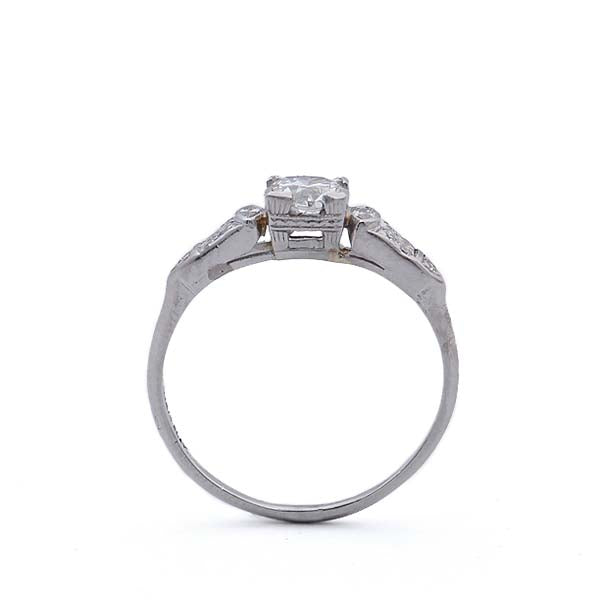 Stunning Art Deco Engagement ring #VR565-01 - Leigh Jay & Co.