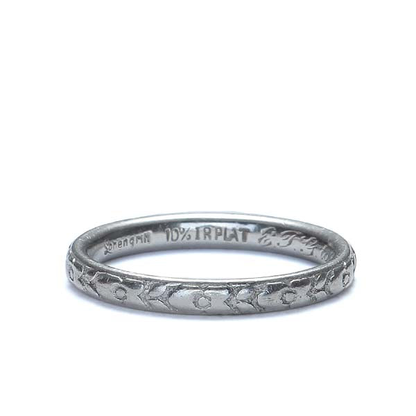 Platinum wedding band by Lohengrin, 1930 #VR566-26 - Leigh Jay & Co.