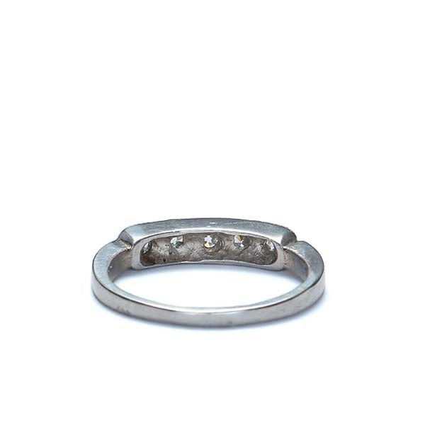 Vintage Platinum Wedding band #VR568-06 - Leigh Jay & Co.