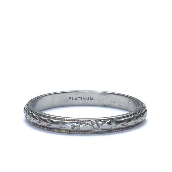 Circa 1920s Platinum wedding band #VR570-12 - Leigh Jay & Co.