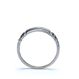 Circa 1940s 18k white gold and palladium wedding band #VR572-09 - Leigh Jay & Co.