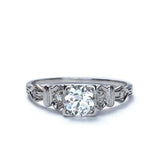 Circa 1940s Diamond Engagement ring #VR572-14 - Leigh Jay & Co.