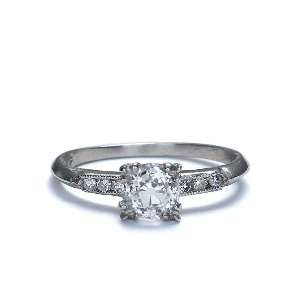 Art Deco Diamond Engagement Ring #VR573-03 - Leigh Jay & Co.
