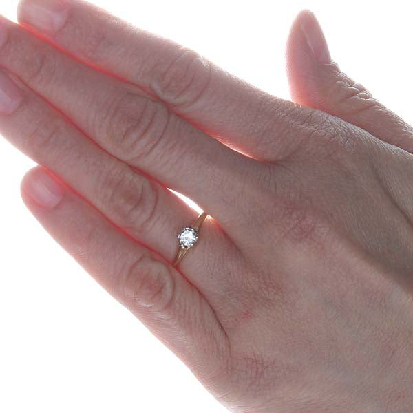 Circa 1915 diamond Solitaire Engagement Ring #VR600-17 - Leigh Jay & Co.