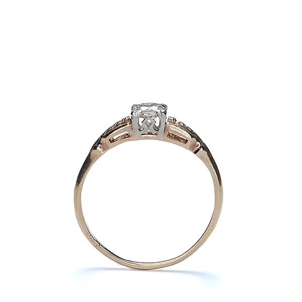 Circa 1940s Engagement ring by Glaser Brothers of Boston, MA #VR656 - Leigh Jay & Co.