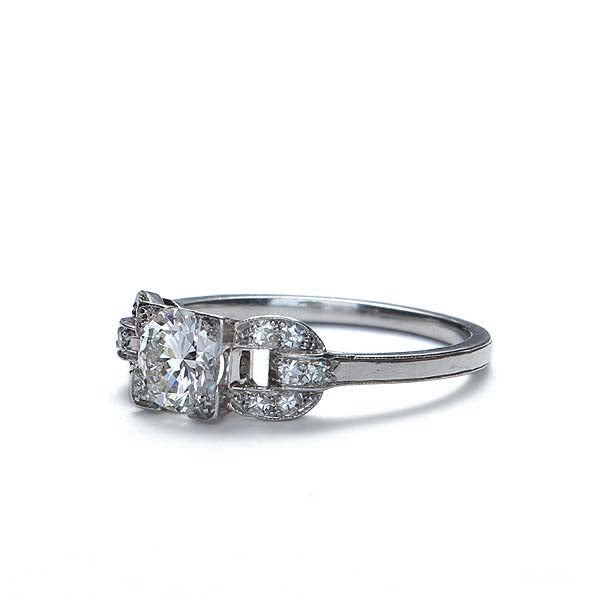Circa 1930s Diamond Engagement ring. #VR868 - Leigh Jay & Co.