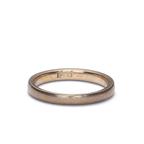 Vintage 10K Yellow gold Wedding band by J.R. Wood and Sons of New York City. #VRA1112-04 - Leigh Jay & Co.