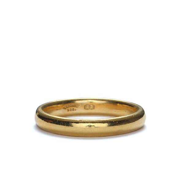 Vintage Tiffany & Company 22K gold wedding band #VRA1216-01