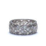 Vintage Platinum Wedding Band. #VWB-54 - Leigh Jay & Co.