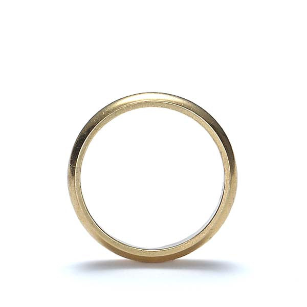 Contemporary wedding band 18kyg #VWB-66 - Leigh Jay & Co.