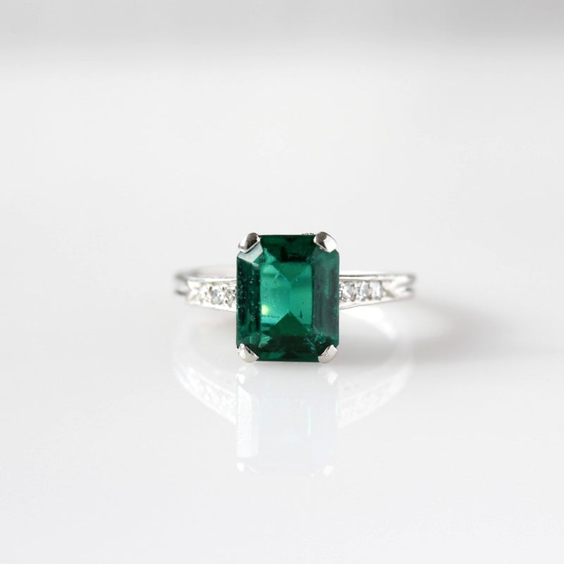 Stunning Art Deco Engagement Ring Setting #R200420 - Leigh Jay & Co.