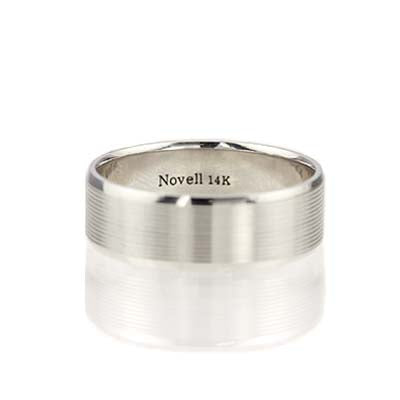 Gents Bevel edged band #ZN16671-7 - Leigh Jay & Co.