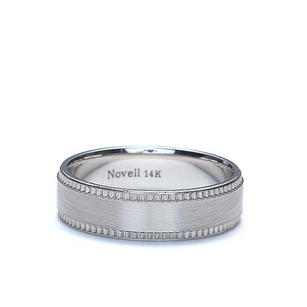 Modernized millegraine edged band #ZN16709-6 - Leigh Jay & Co.