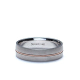 Gents Wedding band with Center contrast.' #ZNT01072-6 - Leigh Jay & Co.