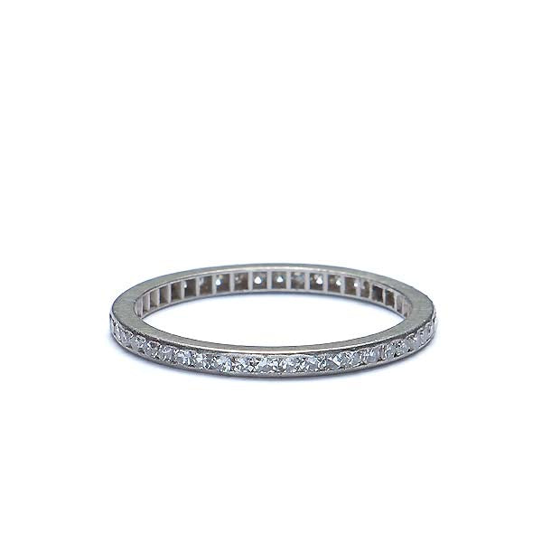 Vintage Diamond Eternity Wedding band #i2953 - Leigh Jay & Co.