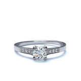 Replica art deco engagement ring #L1030S - Leigh Jay & Co.