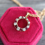 Edwardian Pendant loop with rubies and diamonds #VP200717-1 - Leigh Jay & Co.