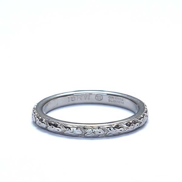 Art Deco Repose' wedding band. #VR568-05 - Leigh Jay & Co.