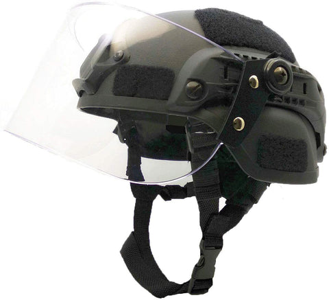 Helmet with Clear Visor - TopTacticalGear