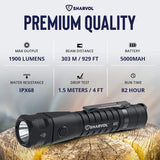 Tactical LED Flashlight with Holster - TopTacticalGear