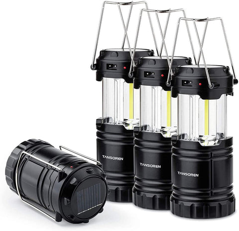 4 Pack Solar LED Camping Lantern - TopTacticalGear